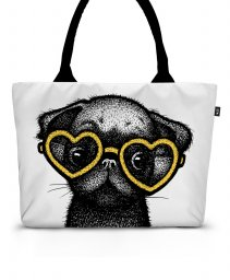 Шоппер Pug Puppy Pillow - Yellow