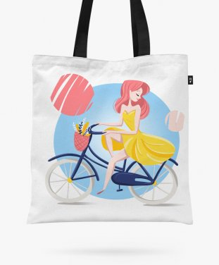 Авоська summer girl bicycle