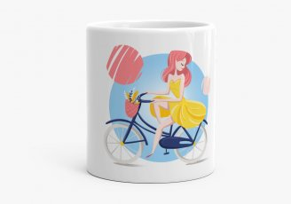 Чашка summer girl bicycle