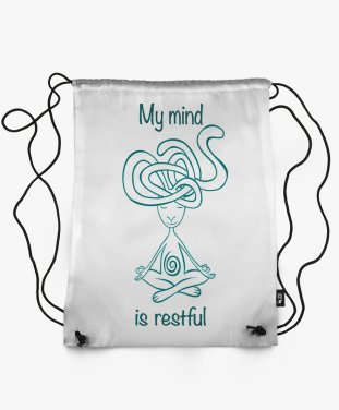 Рюкзак My mind is restful ( white)