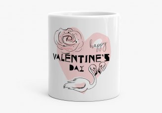 Чашка Valentine's Day Flamingo