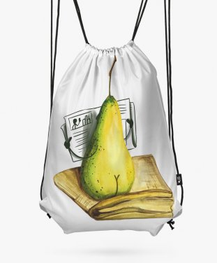 Рюкзак Pear with newspaper